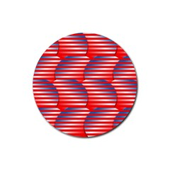 Patriotic  Rubber Coaster (Round)