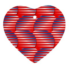 Patriotic  Heart Ornament (Two Sides)