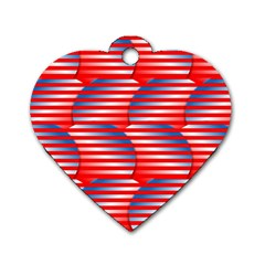 Patriotic  Dog Tag Heart (One Side)