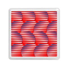 Patriotic  Memory Card Reader (Square)