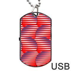 Patriotic  Dog Tag USB Flash (One Side)