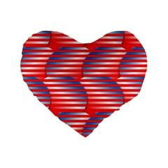 Patriotic  Standard 16  Premium Heart Shape Cushions
