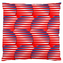Patriotic  Large Flano Cushion Case (one Side)