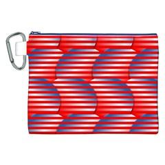 Patriotic  Canvas Cosmetic Bag (XXL)