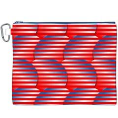 Patriotic  Canvas Cosmetic Bag (xxxl)