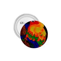 Parakeet Colorful Bird Animal 1.75  Buttons