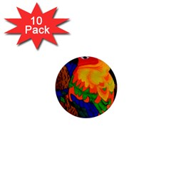 Parakeet Colorful Bird Animal 1  Mini Magnet (10 pack)