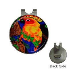Parakeet Colorful Bird Animal Hat Clips With Golf Markers