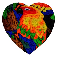 Parakeet Colorful Bird Animal Jigsaw Puzzle (heart)