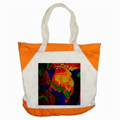 Parakeet Colorful Bird Animal Accent Tote Bag