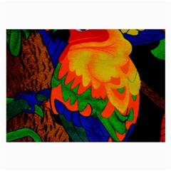 Parakeet Colorful Bird Animal Large Glasses Cloth (2-Side)