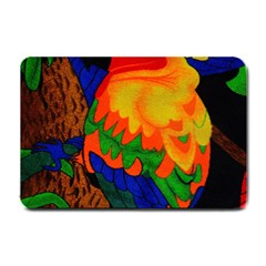 Parakeet Colorful Bird Animal Small Doormat
