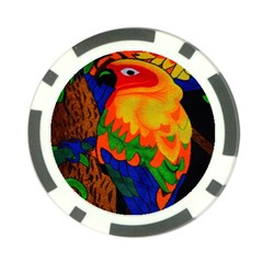 Parakeet Colorful Bird Animal Poker Chip Card Guard