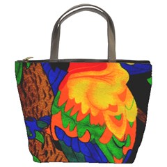 Parakeet Colorful Bird Animal Bucket Bags