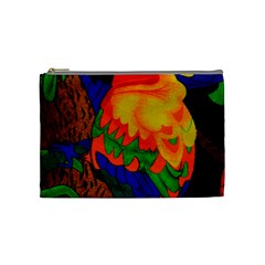 Parakeet Colorful Bird Animal Cosmetic Bag (Medium)