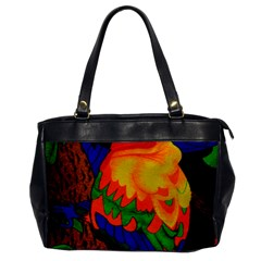Parakeet Colorful Bird Animal Office Handbags