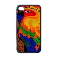 Parakeet Colorful Bird Animal Apple iPhone 4 Case (Black)