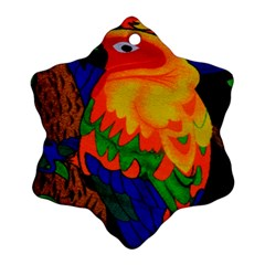 Parakeet Colorful Bird Animal Ornament (Snowflake)