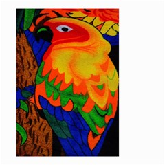 Parakeet Colorful Bird Animal Small Garden Flag (two Sides)