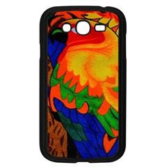 Parakeet Colorful Bird Animal Samsung Galaxy Grand DUOS I9082 Case (Black)