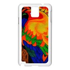 Parakeet Colorful Bird Animal Samsung Galaxy Note 3 N9005 Case (white)
