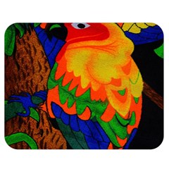 Parakeet Colorful Bird Animal Double Sided Flano Blanket (medium)
