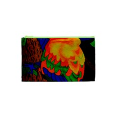 Parakeet Colorful Bird Animal Cosmetic Bag (XS)