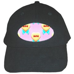 Pastel Heart Black Cap