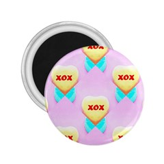 Pastel Heart 2.25  Magnets