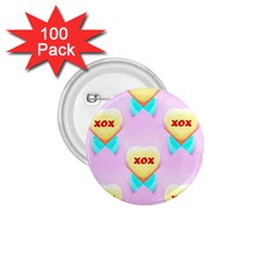 Pastel Heart 1.75  Buttons (100 pack)