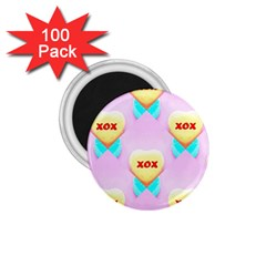 Pastel Heart 1.75  Magnets (100 pack)