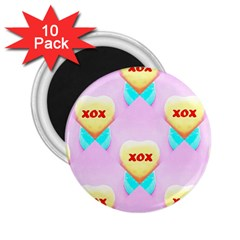 Pastel Heart 2.25  Magnets (10 pack)