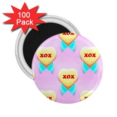 Pastel Heart 2.25  Magnets (100 pack)