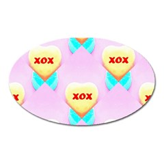 Pastel Heart Oval Magnet