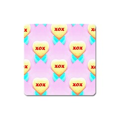 Pastel Heart Square Magnet