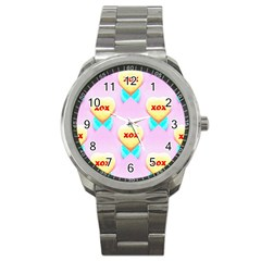 Pastel Heart Sport Metal Watch