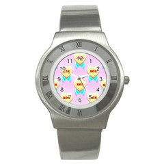 Pastel Heart Stainless Steel Watch