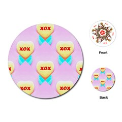 Pastel Heart Playing Cards (Round)
