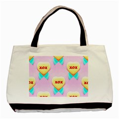 Pastel Heart Basic Tote Bag