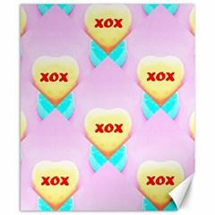 Pastel Heart Canvas 8  X 10
