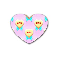 Pastel Heart Rubber Coaster (Heart)