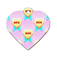 Pastel Heart Dog Tag Heart (One Side)