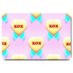 Pastel Heart Large Doormat