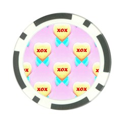 Pastel Heart Poker Chip Card Guard