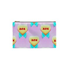 Pastel Heart Cosmetic Bag (Small)