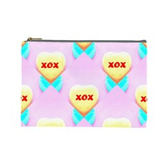 Pastel Heart Cosmetic Bag (Large)