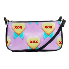 Pastel Heart Shoulder Clutch Bags