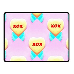 Pastel Heart Fleece Blanket (small)