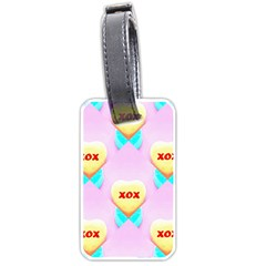 Pastel Heart Luggage Tags (One Side)