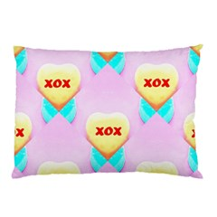 Pastel Heart Pillow Case (Two Sides)